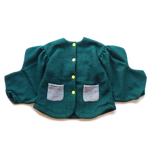 Franky Grow (フランキーグロウ)レディース エアリーウール ジャージ ジャケット グリーン (Women's Airy Wool Jarsey Jacket  Gree…