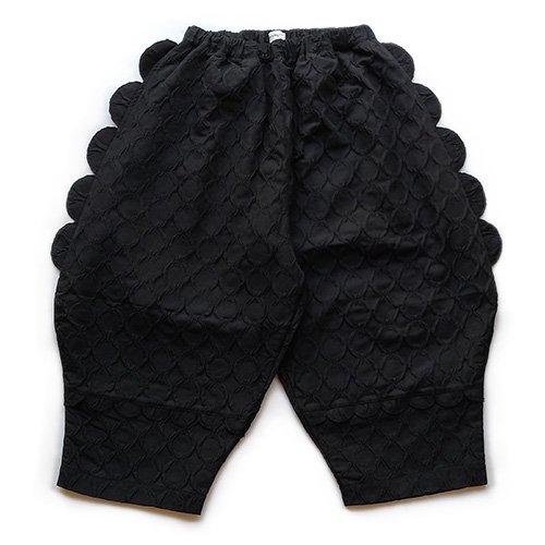 Franky Grow (フランキーグロウ)レディース リングマトラッセ ビッグパンツ ブラック(Women's Ring Matellasse Big Pants Black)