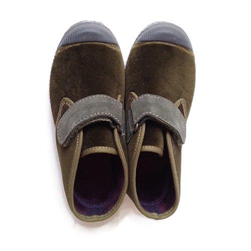Cienta(シエンタ)ハイカットベルクロス スニーカー カーキー (High Cut  Velcro Sneaker Khaki)