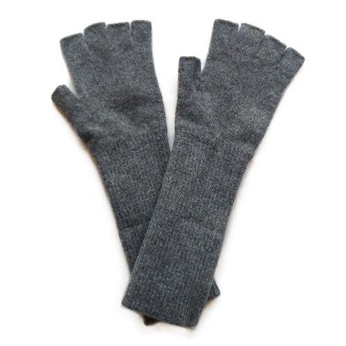 CINQ(サンク) オリジナル レディース 指なし手袋 ミディアムグレー(CINQ Women's Fingerless Gloves Medium Gray…