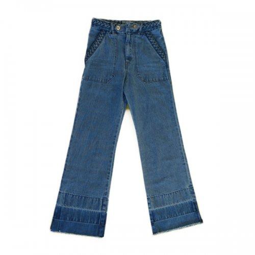 【予約注文】MOI(モイ)プリーツデニムパンツ ライトインディゴ (MOI Trese Denim Pants light indigo)