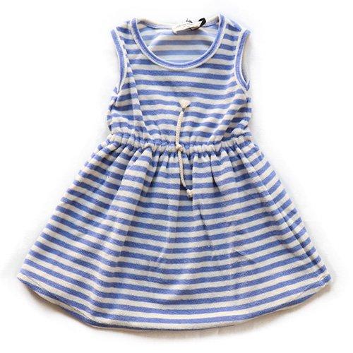 1+ in the family (ワンモアインザファミリー)ボーダードレス ブルー&ホワイト (Border Dress)