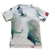 Popupshop(ポップアップショップ)ベーシックロールアップ ショートスリーブ Tシャツ ウォーターフラワー(Basic Roll Up SS Tee Water Flower)<img class='new_mark_img2' src='//img.shop-pro.jp/img/new/icons5.gif' style='border:none;display:inline;margin:0px;padding:0px;width:auto;' />