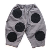 Franky Grow (フランキーグロウ)アンイーブンドット ビッグパンツ グレー (Uneven Dots Big Pants Gray) <img class='new_mark_img2' src='//img.shop-pro.jp/img/new/icons5.gif' style='border:none;display:inline;margin:0px;padding:0px;width:auto;' />