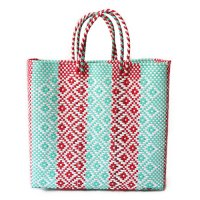 Mexico メルカドバッグ Mサイズ エメラルドグリーン&レッド&ホワイト (Mexico Mercado Bag size M Emeraldgreen&Red&White )<img class='new_mark_img2' src='//img.shop-pro.jp/img/new/icons5.gif' style='border:none;display:inline;margin:0px;padding:0px;width:auto;' />
