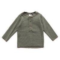 1+ in the family (ワンモアインザファミリー)ロングTシャツ カーキー(Long T-Shirt Khaki)