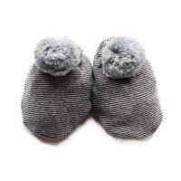 1+ in the family (ワンモアインザファミリー)ボンボンソックス アントラシート&グレー(Socks Anthracite/Grey)