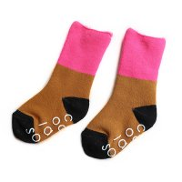 Chocolatesoup(チョコレートスープ)パイル ミドル ソックス ピンク&ブラウン(Pile Middle Socks Pink/Brown)<img class='new_mark_img2' src='//img.shop-pro.jp/img/new/icons5.gif' style='border:none;display:inline;margin:0px;padding:0px;width:auto;' />