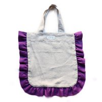 Conexion(コネクシオン)レディース オリジナル フリルバッグ 生成り(ベージュ)&パープル(Women's Original Frill Bag Beige/Purple)<img class='new_mark_img2' src='//img.shop-pro.jp/img/new/icons5.gif' style='border:none;display:inline;margin:0px;padding:0px;width:auto;' />