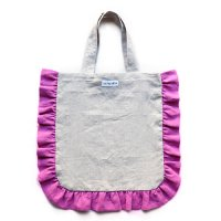 Conexion(コネクシオン)レディース オリジナル フリルバッグ 生成り(ベージュ)&フューシャピンク(Women's Original Frill Bag Beige/Fuchsia Pink)<img class='new_mark_img2' src='//img.shop-pro.jp/img/new/icons5.gif' style='border:none;display:inline;margin:0px;padding:0px;width:auto;' />