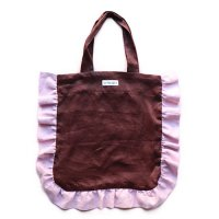 Conexion(コネクシオン)レディース オリジナル フリルバッグ ブラウン&ピーチ(Women's Original Frill Bag Brown/Peach)<img class='new_mark_img2' src='//img.shop-pro.jp/img/new/icons5.gif' style='border:none;display:inline;margin:0px;padding:0px;width:auto;' />