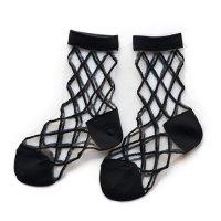 East End Highlanders (イーストエンドハイランダーズ) トランスペアレント メッシュ ソックス ブラック(Transparent Mesh Socks Black)