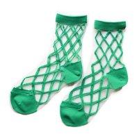 East End Highlanders (イーストエンドハイランダーズ) トランスペアレント メッシュ ソックス グリーン(Transparent Mesh Socks Green)