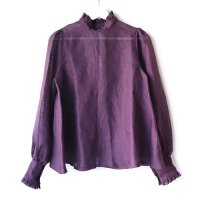 Nuno(ヌーノ)レディース プリンセスのブラウス リネンガーゼ バイオレット (Frilled Blouse Violet) <img class='new_mark_img2' src='//img.shop-pro.jp/img/new/icons5.gif' style='border:none;display:inline;margin:0px;padding:0px;width:auto;' />