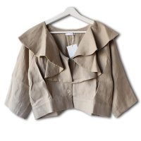 Nuno(ヌーノ)レディース フリル ブラウス アーモンド(Women's Frill Blouse Almond)<img class='new_mark_img2' src='//img.shop-pro.jp/img/new/icons5.gif' style='border:none;display:inline;margin:0px;padding:0px;width:auto;' />