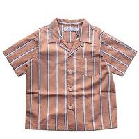 East End Highlanders (イーストエンドハイランダーズ)オープンカラーシャツ オレンジストライプ(Open Collar Shirt Orange)