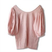 Nuno(ヌーノ)レディース グリシン スリーヴ フリルブラウス ピンク(GLYCINE Sleeve Frill Blouse Pink)