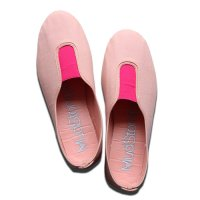 La Cadena(ラ・カデナ)レディース パネルスリッポン ピーチ/ピンク(GIMNASIA PANEL COLOR SLIP ON PEACH/PINK)<img class='new_mark_img2' src='https://img.shop-pro.jp/img/new/icons5.gif' style='border:none;display:inline;margin:0px;padding:0px;width:auto;' />