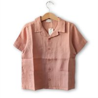 My Little Cozmo (マイリトルコズモ) リネン キッズシャツ テラコッタ (Linen Kids Shirts TerraCotta)<img class='new_mark_img2' src='https://img.shop-pro.jp/img/new/icons5.gif' style='border:none;display:inline;margin:0px;padding:0px;width:auto;' />