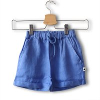My Little Cozmo (マイリトルコズモ) リネン バミューダショートパンツ ロイヤルブルー