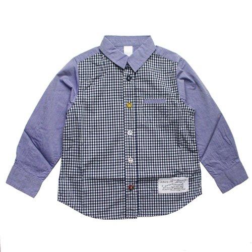 ARCH & LINE (アーチアンドライン) キャンディーシャツ 3  サックス & チェック (CANDY SHIRTS 3 Sax Check…
