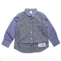 ARCH & LINE (アーチアンドライン) キャンディーシャツ 3  サックス & チェック (CANDY SHIRTS 3 Sax Checks)