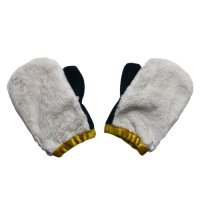Cokitica (コキチカ) ミラクル ファー ミトン(手袋) アイボリー (Miracle fur mitten ivory)