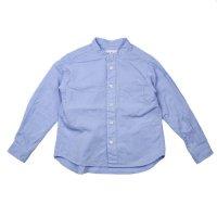 East End Highlanders (イーストエンドハイランダーズ) バンドカラーシャツ ブルー (Band Collar Shirt Blue)
