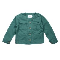East End Highlanders (イーストエンドハイランダーズ) カラーレス(襟なし)デニム ジャケット グリーン (Collarless Denim Jaket Green)<img class='new_mark_img2' src='//img.shop-pro.jp/img/new/icons20.gif' style='border:none;display:inline;margin:0px;padding:0px;width:auto;' />