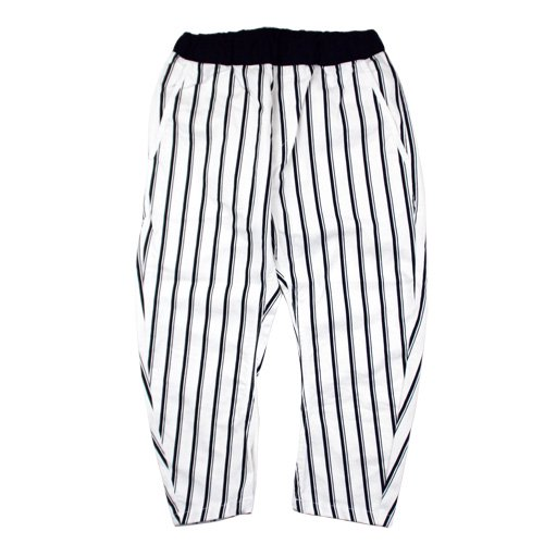 ARCH & LINE (アーチアンドライン) バナナパンツ ストライプ ホワイト (Banana Pants Stripe Whit…