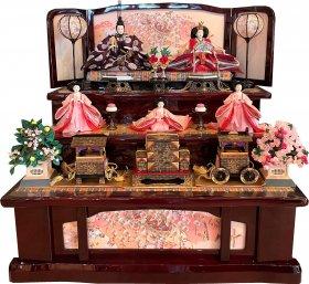 桜刺繍三段飾り