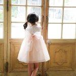 丸襟オーガンジードレス