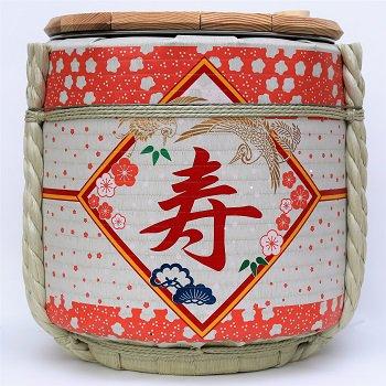レンタル祝樽2斗 寿・花柄