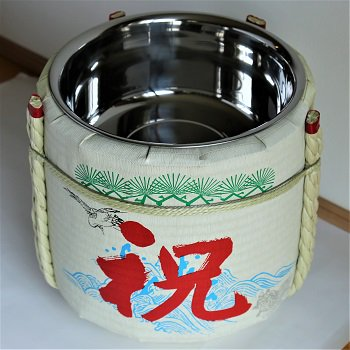 【新品】レンタル祝樽2斗 祝・鶴亀【画像3】