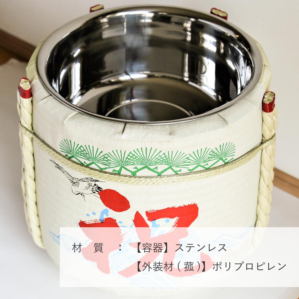 【新品】レンタル祝樽2斗 祝・鶴亀【画像4】