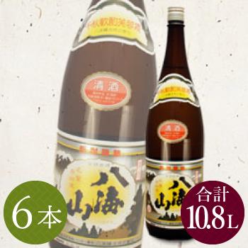 レンタル祝樽用 清酒八海山1.8L(6本)