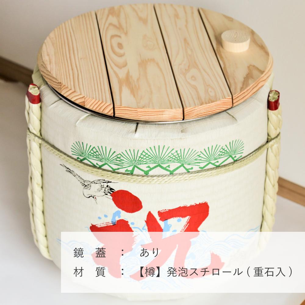 レンタル鏡開きセット2斗樽 祝・鶴亀【30名用】【画像3】