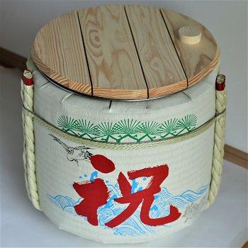 レンタル鏡開きセット2斗樽 祝・鶴亀【50名用】【画像3】