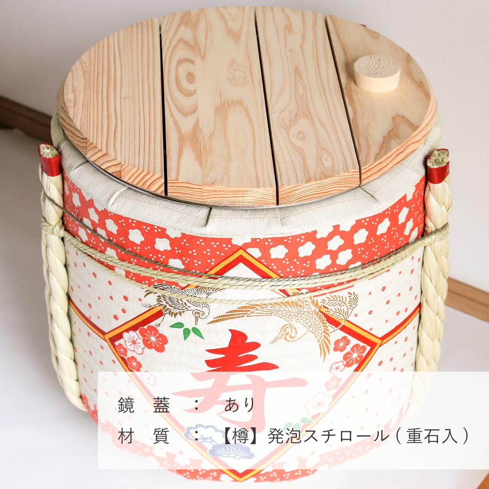レンタル鏡開きセット4斗樽 寿・花柄【100名用】【画像3】