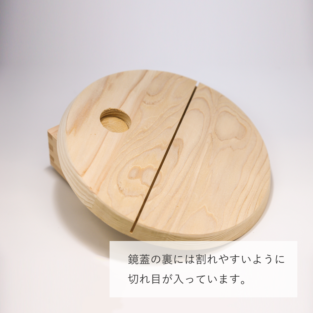 金のミニ鏡開きセット2升【北斎グレートウェーブ】(金箔付)【画像5】