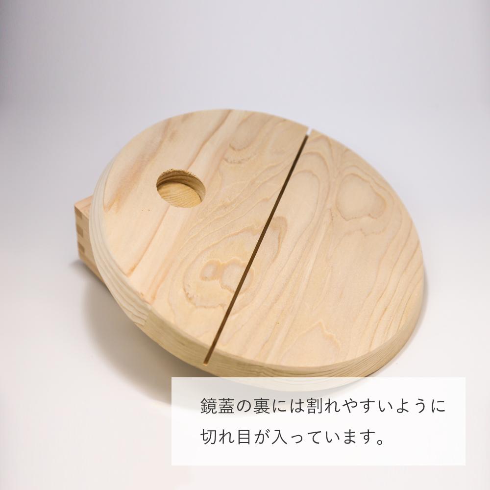 金のミニ鏡開きセット2升【風神雷神】(金箔付)【画像5】
