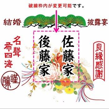 名入れラベル祝樽セット 披露宴松冠4斗(上底・酒20本付)【画像2】