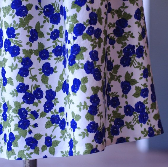 blue flower print skirt from FRANCE