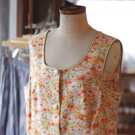 vintage flower print dress from France
