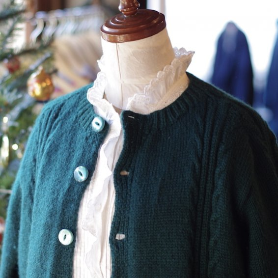 vintage hand-knitted cardigan from FRANCE