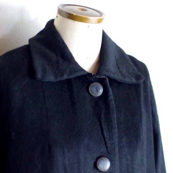 1960's vintage wool coat / black