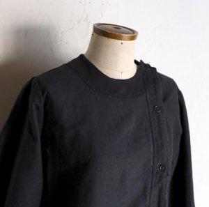vintage black dress  / 繕いを重ねた子供服