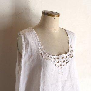early 20th century hand embroidery dress / 花のカットワーク刺繍ワンピース