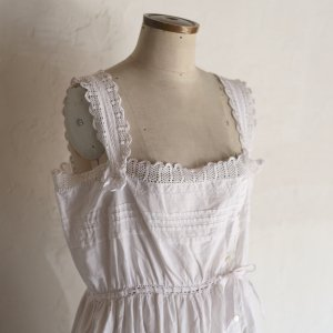 early 20th century lace dress / レースとリボンのワンピース