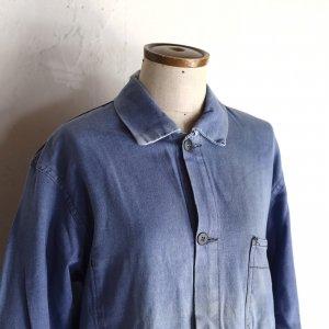 1960-70's work jacket from FRANCE/ライトサックスブルーのワークジャケット